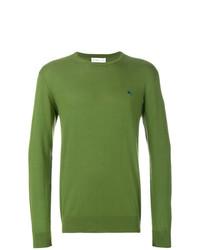 Мужской оливковый свитер с круглым вырезом от Etro