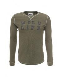 Мужской оливковый свитер с круглым вырезом от Frank NY