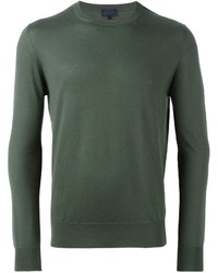 Мужской оливковый свитер с круглым вырезом от Lanvin