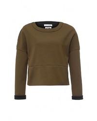 Женский оливковый свитер с круглым вырезом от NATIVE YOUTH