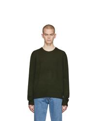 Мужской оливковый свитер с круглым вырезом от Rag and Bone