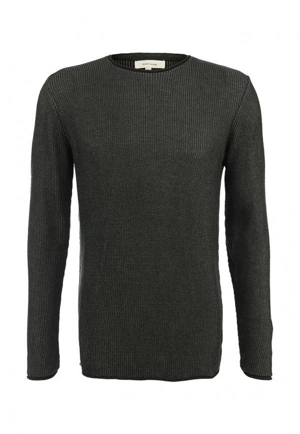 Мужской оливковый свитер с круглым вырезом от River Island