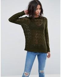 Женский оливковый свободный свитер от Asos