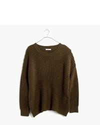 Женский оливковый свободный свитер от Madewell