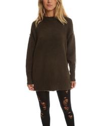 Женский оливковый свободный свитер от R 13