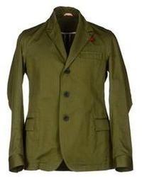 Оливковый хлопковый пиджак