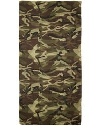 Оливковый шарф с камуфляжным принтом