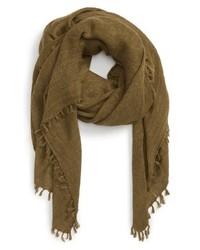 Оливковый шарф