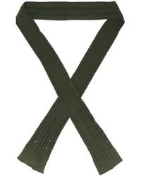 Женский оливковый шарф от Maison Margiela