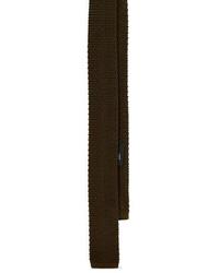 Оливковый шерстяной галстук