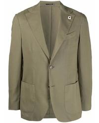 Мужской оливковый шерстяной пиджак от Lardini