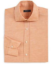 Мужская оранжевая классическая рубашка от Saks Fifth Avenue