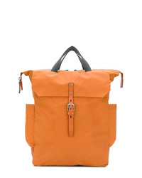 Мужская оранжевая кожаная большая сумка от Ally Capellino