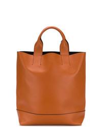 Мужская оранжевая кожаная большая сумка от Marni