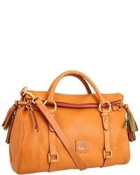 Оранжевая кожаная сумка-саквояж