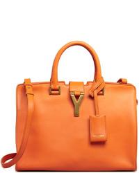 Оранжевая кожаная сумочка