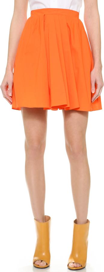 Оранжевая солнце юбка