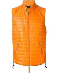 Оранжевая куртка без рукавов