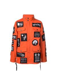 Оранжевая куртка в стиле милитари