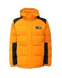 Оранжевая куртка-пуховик