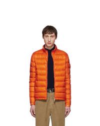 Мужская оранжевая куртка-пуховик от Moncler