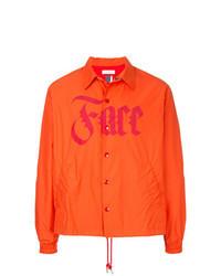 Оранжевая куртка-рубашка