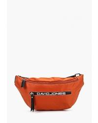 Оранжевая поясная сумка из плотной ткани от David Jones