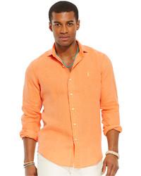 оранжевая рубашка с длинным рукавом original 362610
