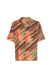 Мужская оранжевая рубашка с коротким рукавом с принтом от Missoni