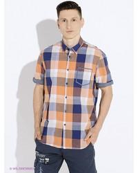 Мужская оранжевая рубашка с коротким рукавом от LERROS