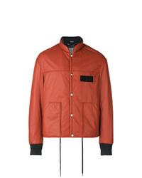 Оранжевая университетская куртка