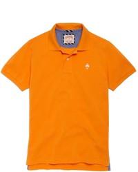 Оранжевая футболка-поло