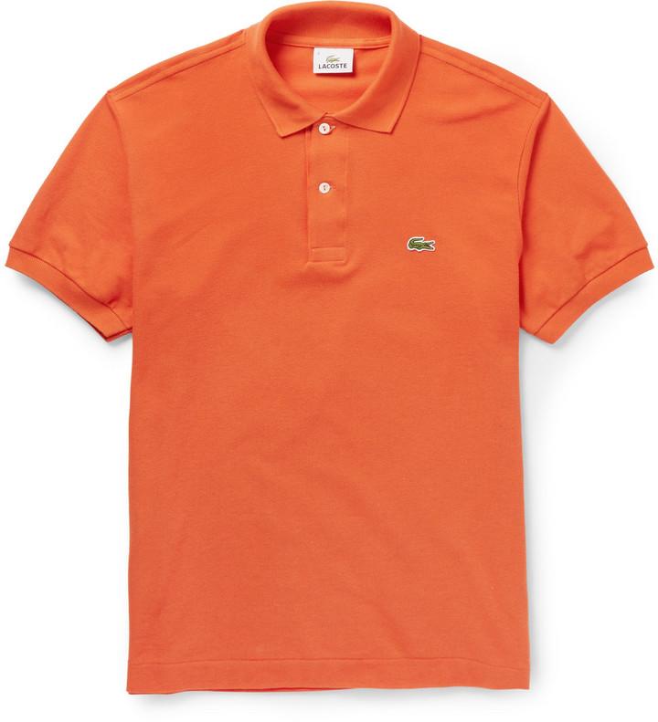 e095770095ed Мужская оранжевая футболка-поло от Lacoste   Где купить и с чем носить