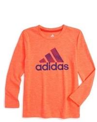 Оранжевая футболка с длинным рукавом