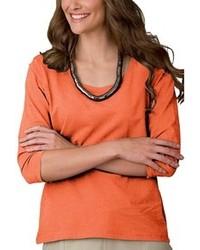 оранжевая футболка с длинным рукавом original 1286151