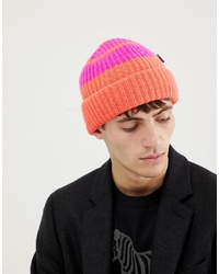 Мужская оранжевая шапка в горизонтальную полоску от PS Paul Smith