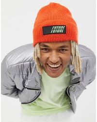 Мужская оранжевая шапка от ASOS DESIGN