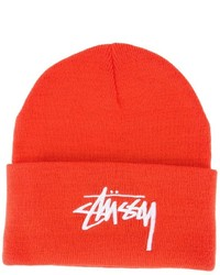 Мужская оранжевая шапка от Stussy