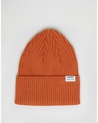 Мужская оранжевая шапка от Wesc