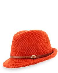 Оранжевая шерстяная шляпа