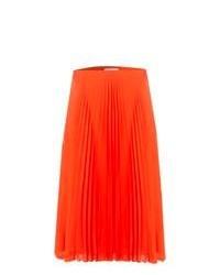 Оранжевая юбка-миди