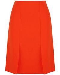 Оранжевая юбка-трапеция от Fendi