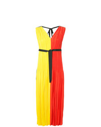 Женское оранжевое вечернее платье со складками от Han Ahn Soon