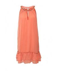 Женское оранжевое вечернее платье от Emoi