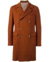 Мужское оранжевое длинное пальто от Tagliatore