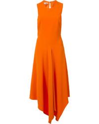 Оранжевое платье-миди