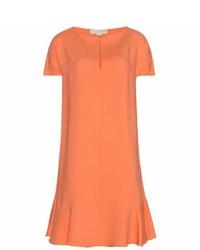Женское оранжевое платье прямого кроя от Stella McCartney