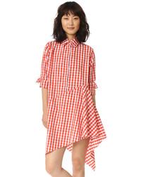 Женское оранжевое платье-рубашка от MARQUES ALMEIDA