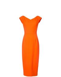 Женское оранжевое платье-футляр от Dvf Diane Von Furstenberg
