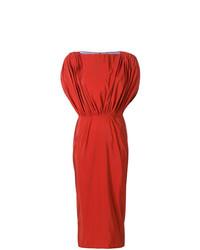Женское оранжевое платье-футляр от Maticevski